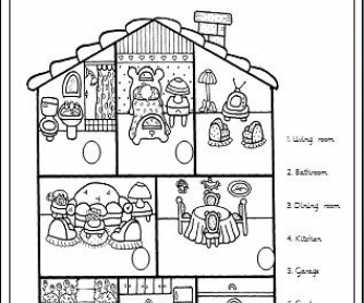 rooms in the house elementary worksheet - Rooms In A House Pictures