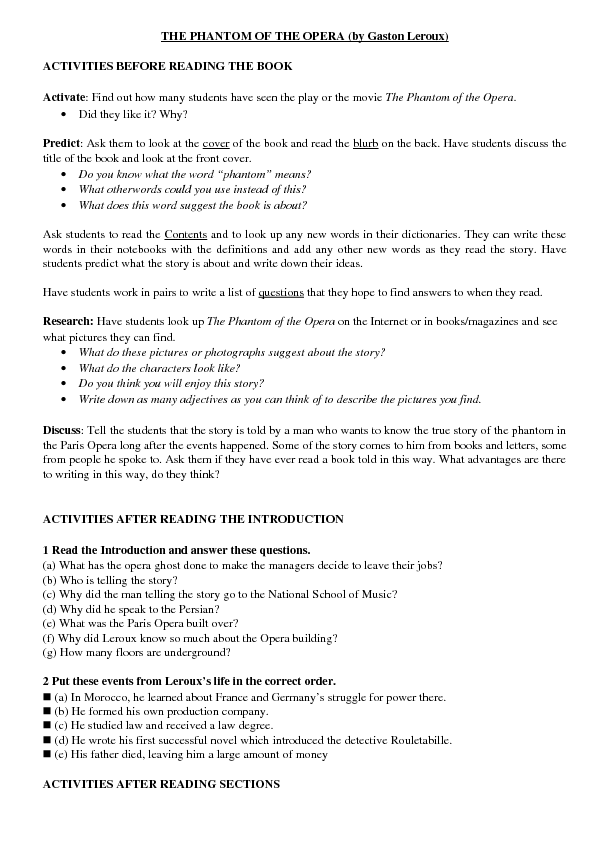 phantom of the opera essay Andrew lloyd webber essay examples 8 total results a personal opinion on andrew lloyd webber's les a dark romantic musical in andrew webber's the phantom of the opera 483 words 1 page the music of andrew lloyd webber 975 words 2 pages an analysis of jesus christ superstar, a rock.