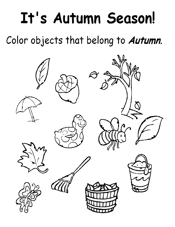 Autumn – Season Worksheets