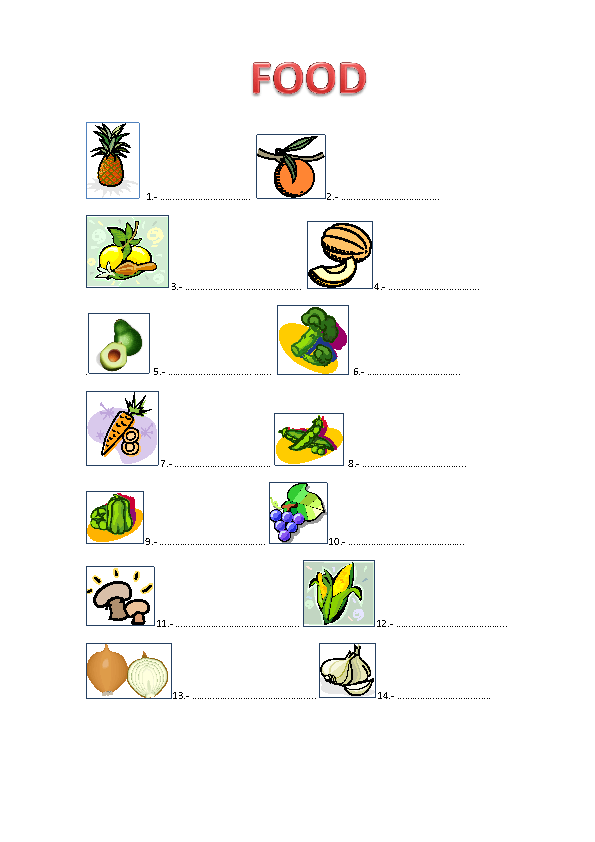Food Exercise [Fill in the gaps]