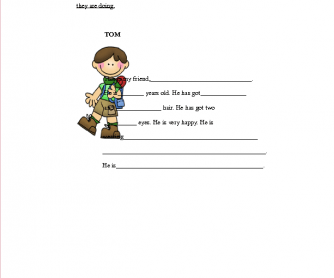 Writing About Tom: Basic Writing Prompt