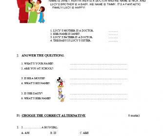 Grammar Test For Juniors