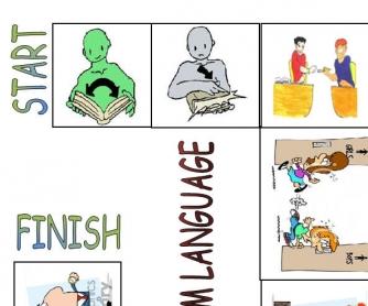 Classroom Language Board Game