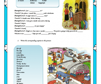 Travelling Worksheet
