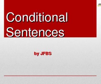 Conditional Sentences PPT