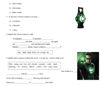 Green Lantern Movie Activity