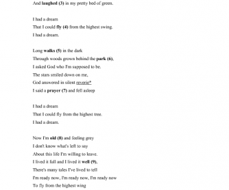 Song Worksheet: Dream by Priscilla Ahn