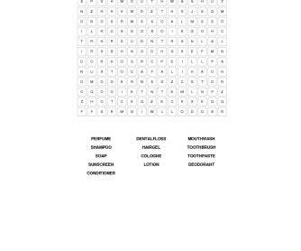 Healthy Habits Word Search