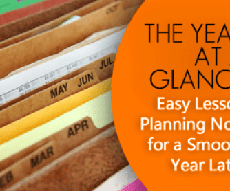 The Year at a Glance: Easy Lesson Planning Now for a Smooth Year Later