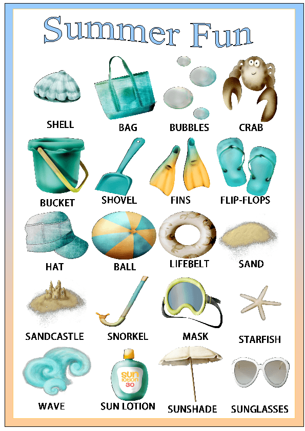 Summer Fun Classroom Poster