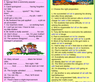 Mixed Prepositions: Review