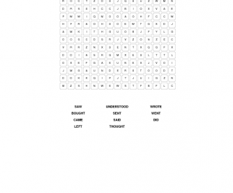 Irregular Verbs Word Search