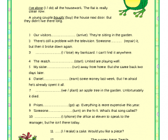 Present Perfect vs. Past Simple Worksheet