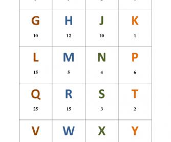 Scrabble Style Phonics Game