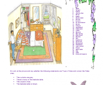 The Bedroom Worksheet