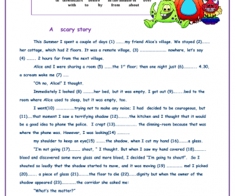 A Scary Story Worksheet