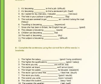 Double and Proportional Comparative Worksheet