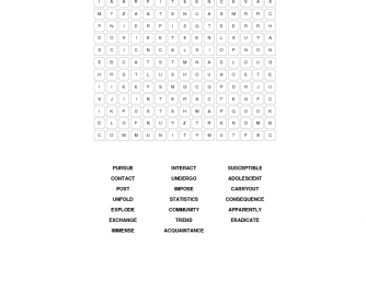 Social Networking Word Search