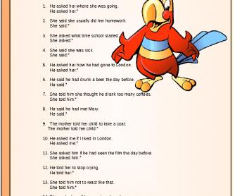 Direct Speech Worksheet