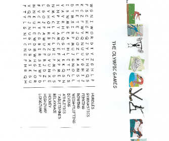 Olympic Sports Wordsearch