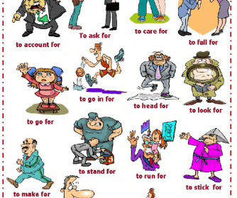 Phrasal Verbs with For Worksheet