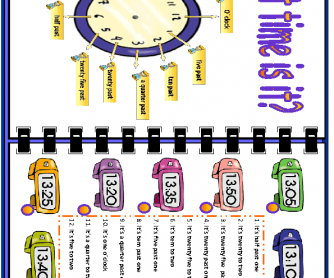Telling the Time Elementary Worsheet