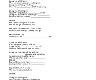 Song Worksheet: Loving You by Aloe Blacc