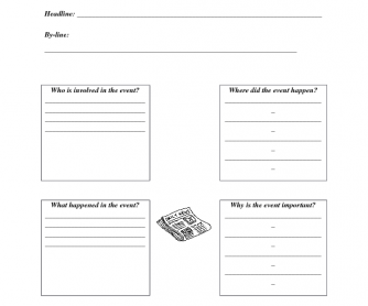 Newspaper Writing Guidesheet
