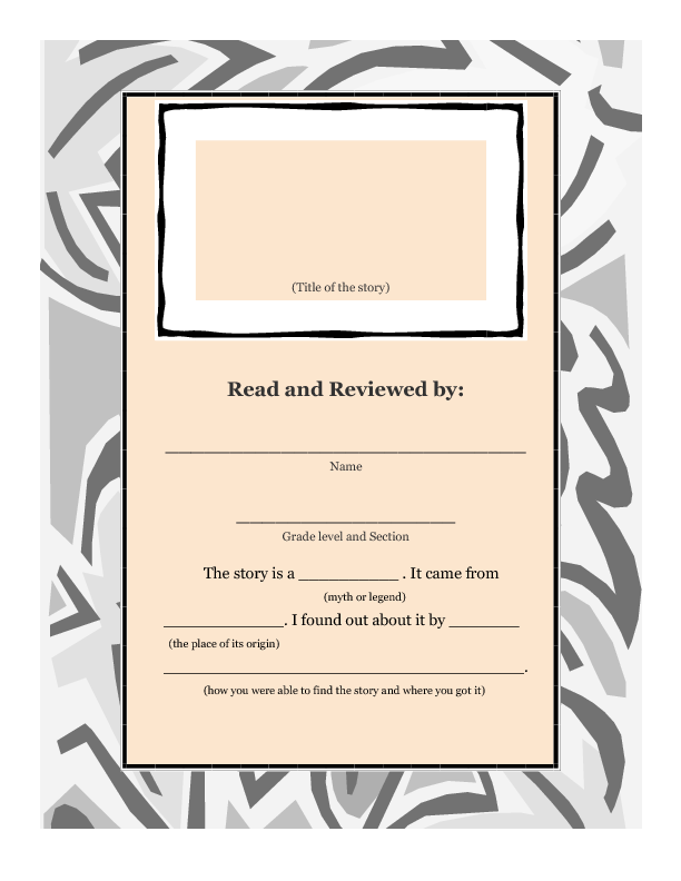 Myths And Legends Title Page
