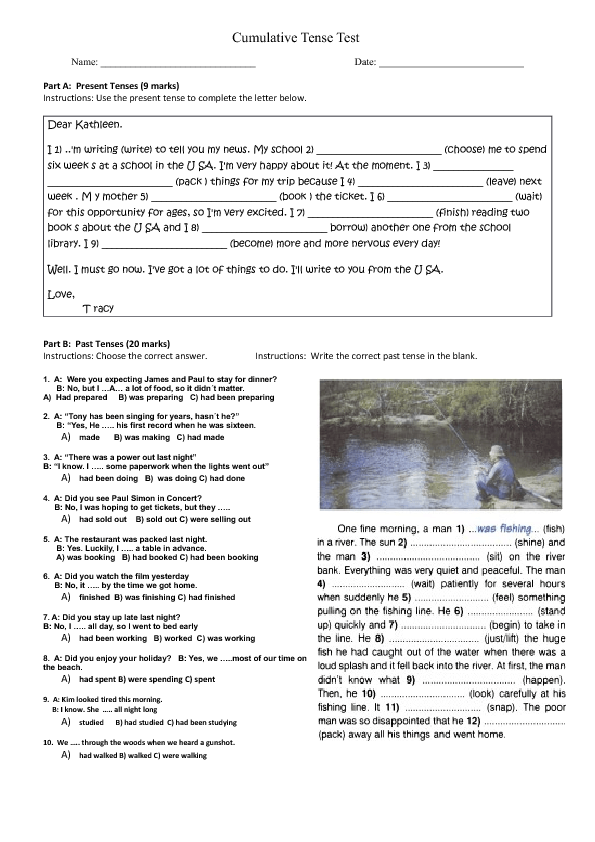 test on tenses Englisch-hilfende – learning english online englisch-hilfende – learning english online english tenses - test - page 3 c - which form is correct.