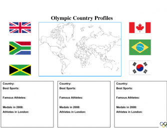 Olympic Country Profiles Activity (Worksheet Version 1)