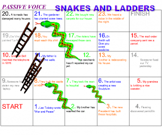 Passive Voice Snakes and Ladders