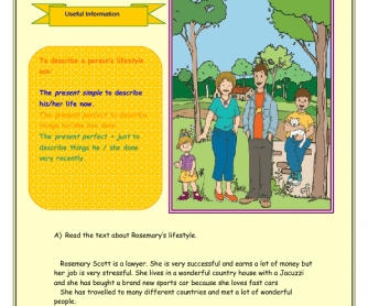 Describe a Lifestyle Worksheet