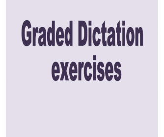 Graded Dictations