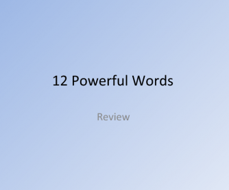 12 Powerful Words: Review