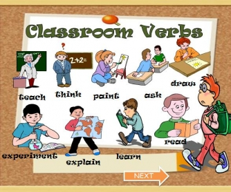 Back to School: Classroom Verbs PowerPoint Presentation