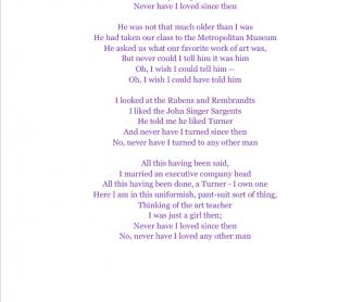 Song Worksheet: The Art Teacher