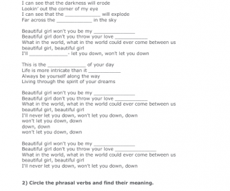 Song Worksheet: Ordinary Day by The Cranberries
