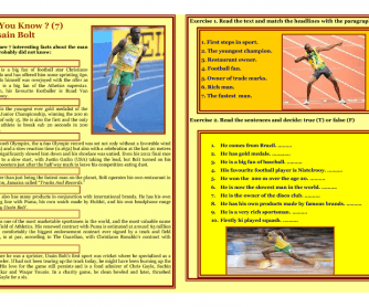 Reading - Did You Know? - USAIN BOLT