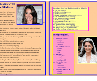 Reading - Did You Know? - Kate Middleton