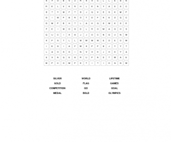Olympic Games Elementary Word Search