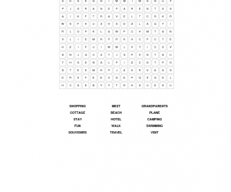 Summer Holiday Word Search