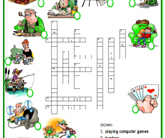 Hobbies Picture Crossword