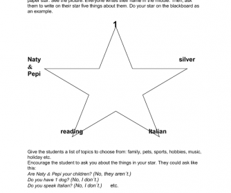 Personal Star Ice-Breaker