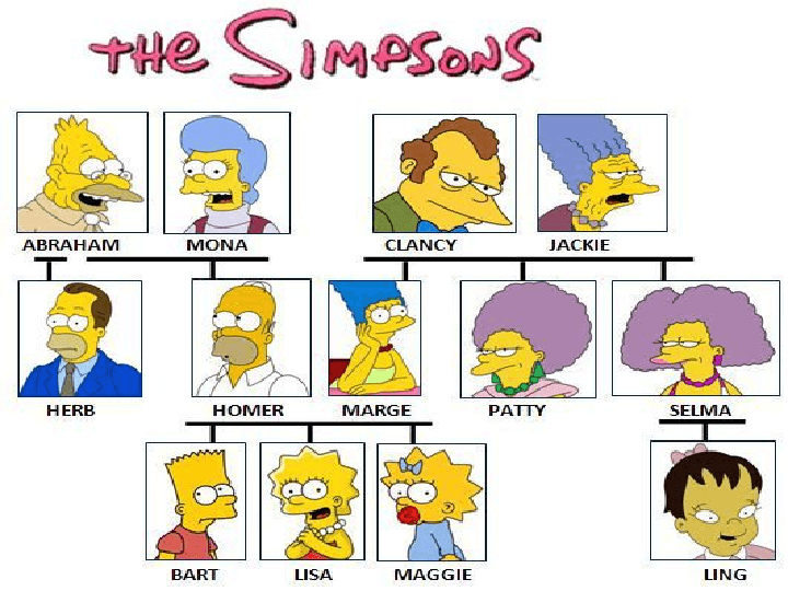 Simpsons family tree worksheet pdf