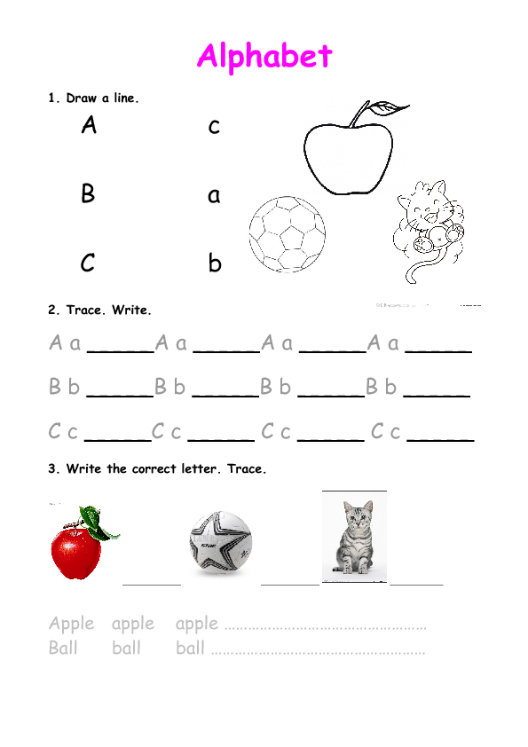 Alphabet Practice Abc B And D Practice Worksheets Practice Alphabet Worksheets #3