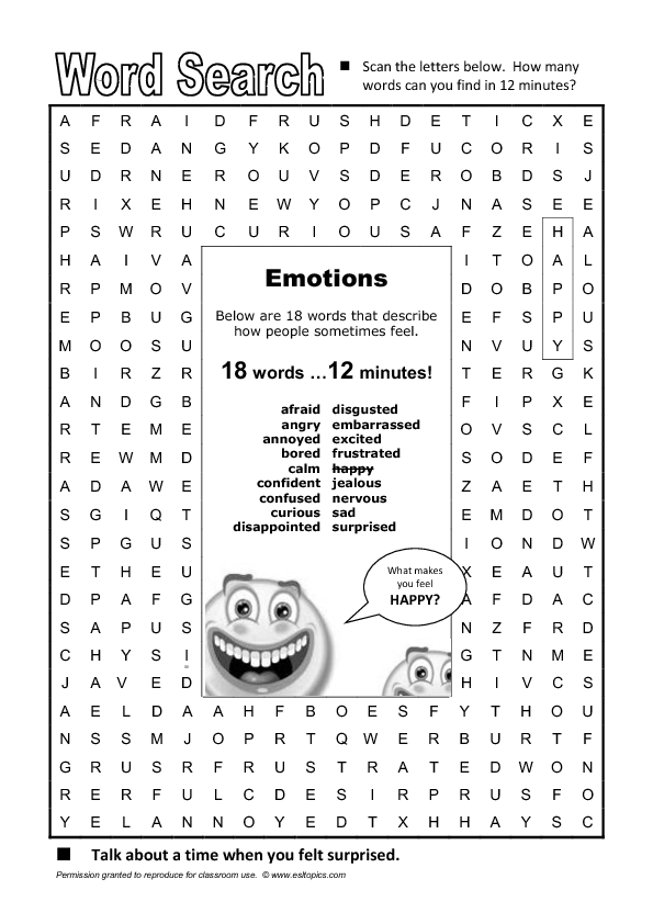 Word Search Emotions