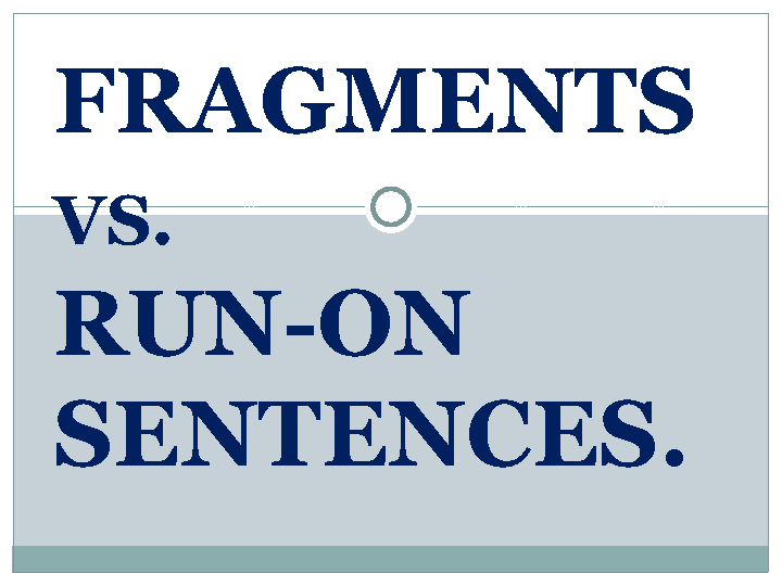 vs Runon Sentences – Run on Sentences Worksheet