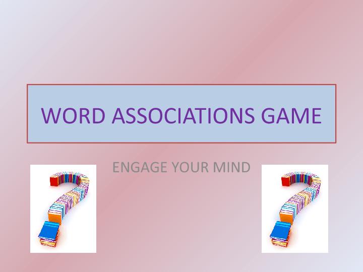 Associations Game 1