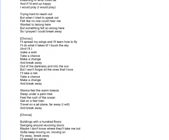 Song Worksheet: Breakaway by Kelly Clarkson [Review Prepositions and Phrasal Verbs]